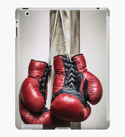Red, vintage boxing gloves iPad Case/Skin