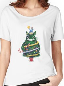 Christmas tree Totoro Women's Relaxed Fit T-Shirt