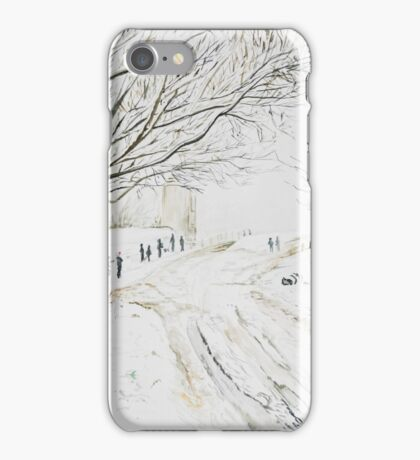 Snowy pigeon tower Rivington iPhone Case/Skin