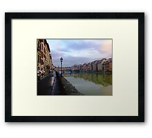 River to Road, Florence Framed Print