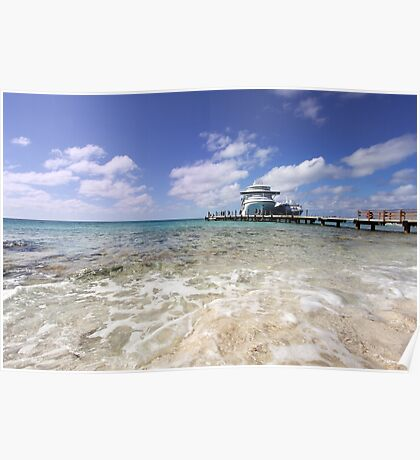 Docked at Grand Turk Poster