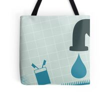 Crane with water Tote Bag