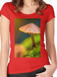 It's a Small World Mushroom photograph Women's Fitted Scoop T-Shirt