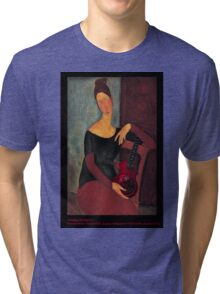 Portrait of the Artist's Wife (with ukulele) Tri-blend T-Shirt