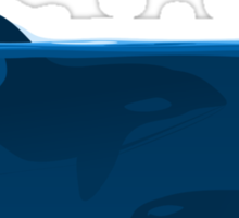 Hunting of whales Sticker