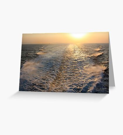 "Sailing into (or is it ""out of""?) the Sunset  Greeting Card"