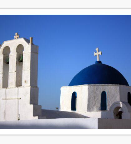 Chapels in Blue & White Sticker