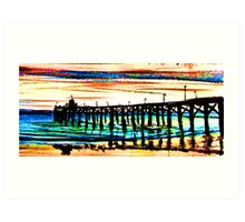Newport Pier Art Print