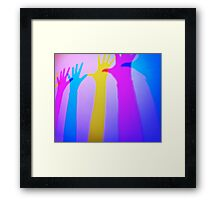 Colored silhouettes Framed Print