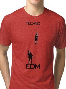 Techno vs EDM Tri-blend T-Shirt
