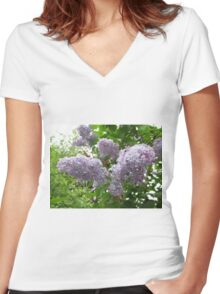 Lilac 6 Women's Fitted V-Neck T-Shirt