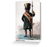 Old Guard Grenadier Greeting Card