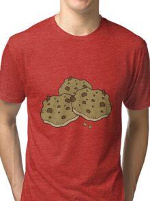 cartoon chocolate chip cookies Tri-blend T-Shirt