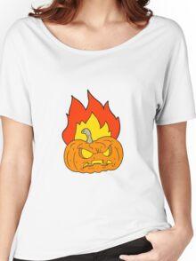 cartoon halloween pumpkin Women's Relaxed Fit T-Shirt