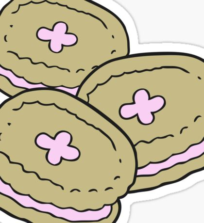 cartoon biscuits Sticker