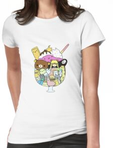 Ice Cream Anime Womens Fitted T-Shirt