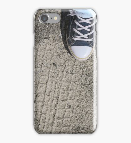 Blue sneakers shoes  iPhone Case/Skin