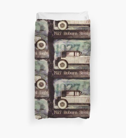 Vintage Auburn Pop Art Duvet Cover