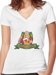Schraderbrau Women's Fitted V-Neck T-Shirt
