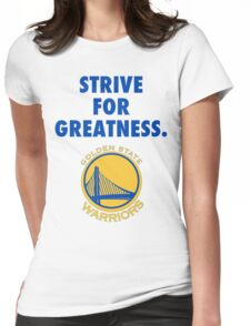 Warriors - Strive For Greatness Womens Fitted T-Shirt