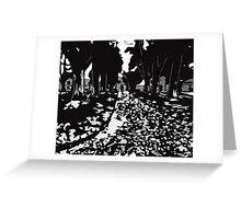 Fallen Leaves Greeting Card