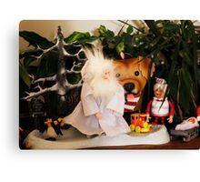 Winter Warlock Scene Christmas Canvas Print