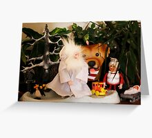 Winter Warlock Scene Christmas Greeting Card