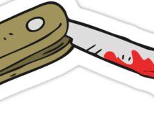 cartoon bloody folding knife Sticker