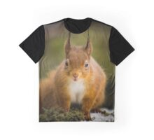 Super Cute Red Squirrel Graphic T-Shirt