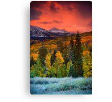 Autumn Dawn Over Kebler Pass Canvas Print
