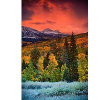 Autumn Dawn Over Kebler Pass Photographic Print