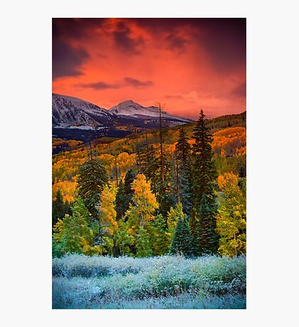 Autumn Dawn Over Kebler Pass Photographic Print