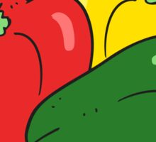 cartoon peppers Sticker