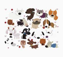 Dog pattern One Piece - Short Sleeve