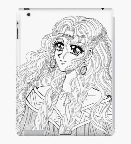 Valkyrie - viking styled manga girl drawing iPad Case/Skin