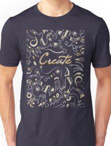 Create - Tan & Orange Unisex T-Shirt