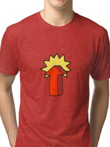 cartoon arrow Tri-blend T-Shirt