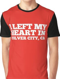 I Left My Heart In Culver City, CA Love Native T-Shirt Graphic T-Shirt