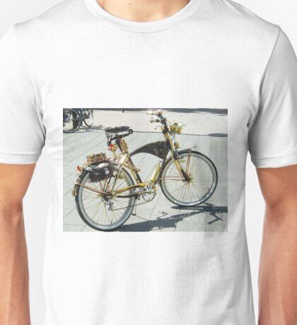 Gouden fiets Unisex T-Shirt