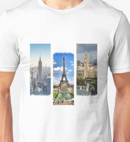 Three Beautiful Cities Unisex T-Shirt
