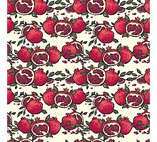 Red pomegranates on white Photographic Print