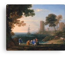 Coast View with the Abduction of Europa - Claude Lorrain - ca. 1645 Canvas Print