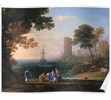 Coast View with the Abduction of Europa - Claude Lorrain - ca. 1645 Poster