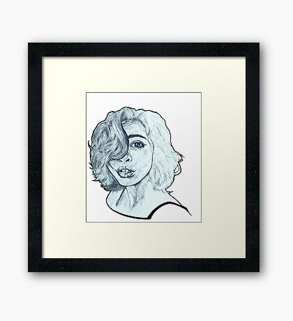 Rainy Mind Framed Print