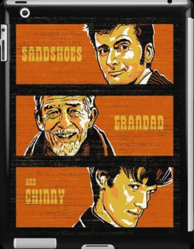 Sandshoes, Grandad & Chinny by zerobriant