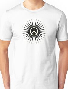 Hippie black sun Unisex T-Shirt