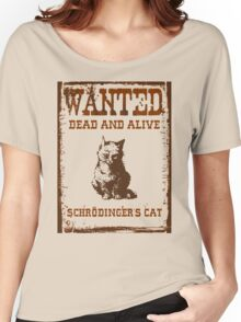Schrodinger's cat WANTED poster ver.brown Women's Relaxed Fit T-Shirt
