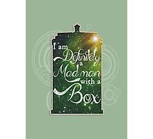 A Mad Man With a Box Photographic Print