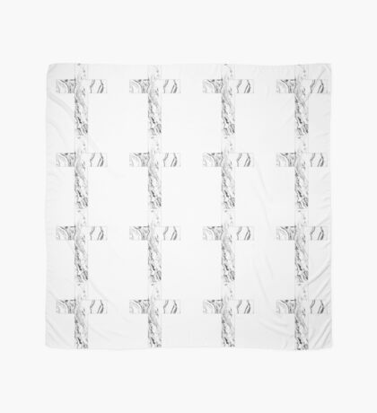 Christian cross marble black and white geometric Scandinavian modern Scarf