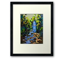 Falls in the woods Framed Print